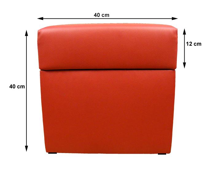 sitzw rfel w schebox sitzhocker kunstleder cubic 40cm kostenlos versand ebay. Black Bedroom Furniture Sets. Home Design Ideas